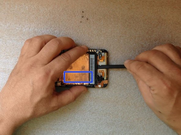 the Touchscreen flex cable