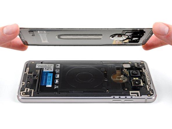 Extracción de panel de cristal trasero del LG G6