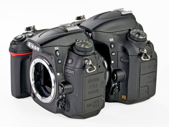 "Check out this shot of what appears to be the D7000 by itself. Look closer, though, and you will notice that the D600 hides quite nicely behind the similarly sized D7000. Apparently ""slight"" really is slight!"