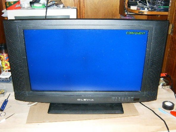 Once reassembled, connect your TV monitor either as TV or a computer monitor. This is what the final result should look like.