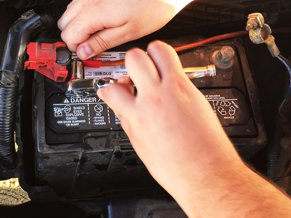 Repeat the steps in reverse order to properly secure battery.