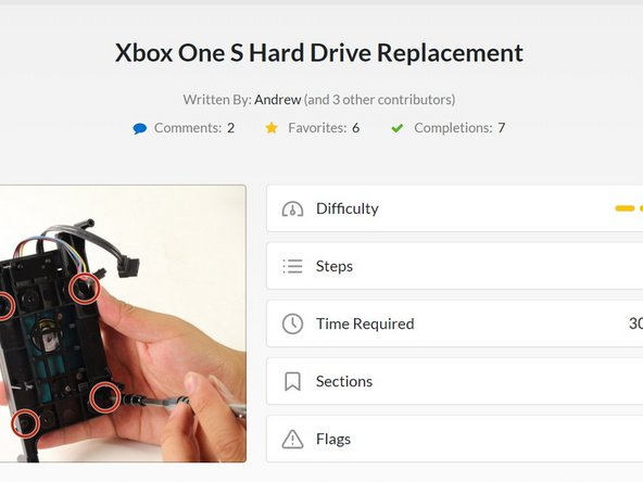 Install firmware on Xbox One S - iFixit Repair Guide