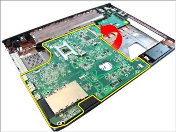 Lift and remove system board from the chassis.