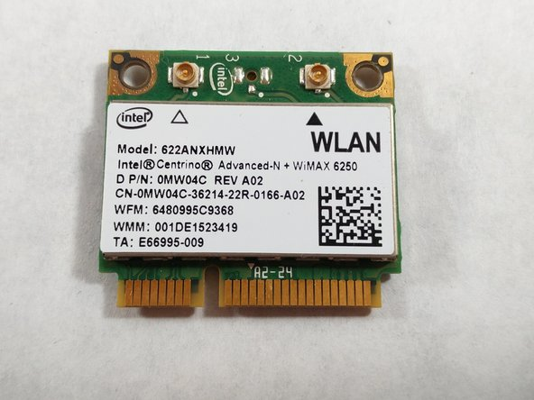 Your Wi-Fi card will pop up, ready for replacing!