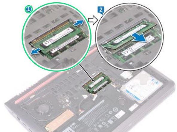 Dell Inspiron 15 5577 Gaming Memory Modules Replacement