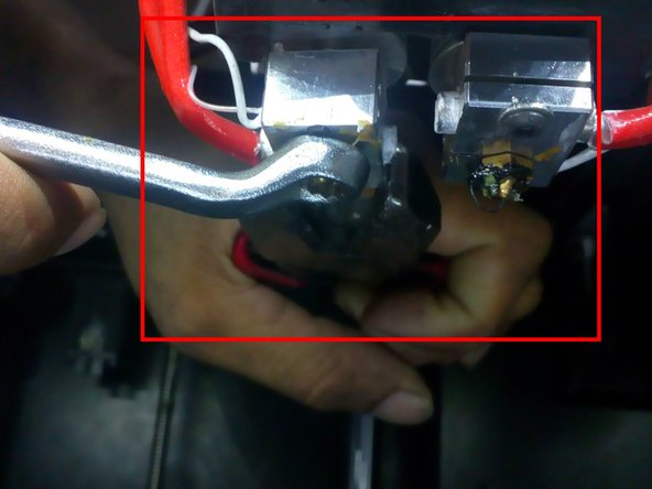 Reassemble the nozzle tip again with the help of the nose plier and spanner after cleaning the nozzle.