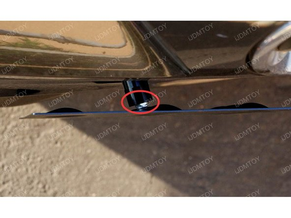 "Mount license plate. Use one of the 1/4"" nuts that's included in the package. Insert the screw to mount them together."
