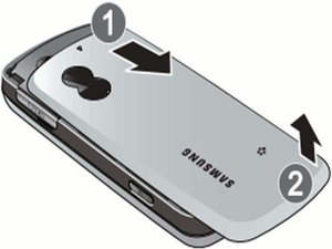 Disassembling Samsung Gravity SGH-T459  Back Cover