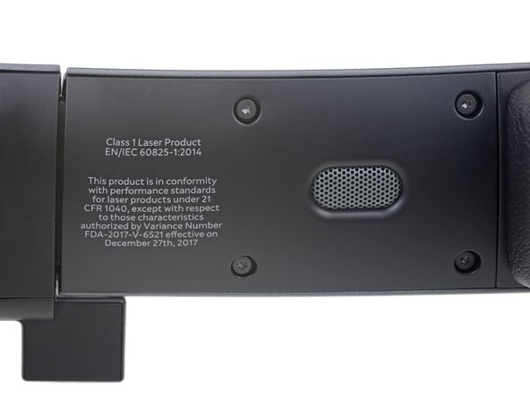 Inside the headband, we note a Class 1 Laser label. It might seem like a scary thing to find on your eyewear, but it's safe for all normal use conditions and likely no more dangerous than a CD player.