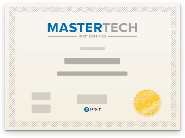 iFixit MasterTech Certification Main Image