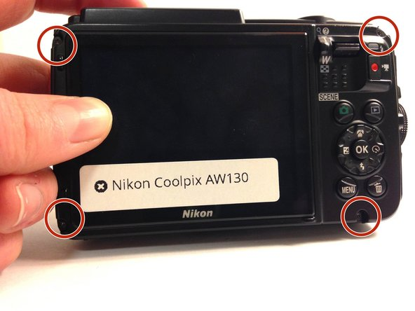 Nikon Coolpix AW130 Back Panel Replacement