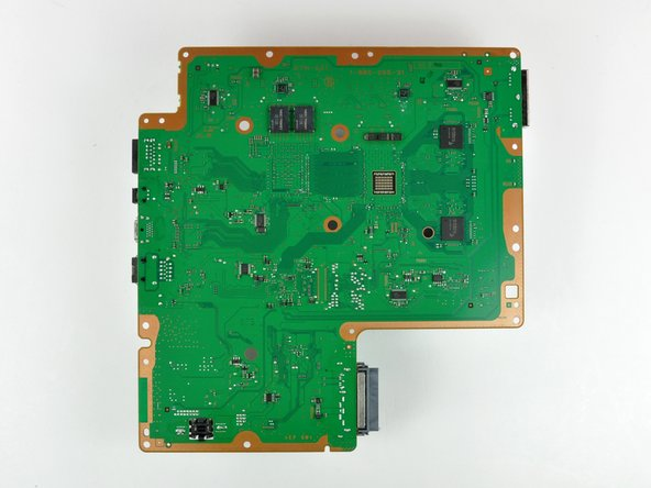 The logic board. Sony's going green on the inside, to reflect their commitment to the environment. View HUGE version.