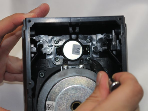 Remove the tweeter diaphragm from the unit housing