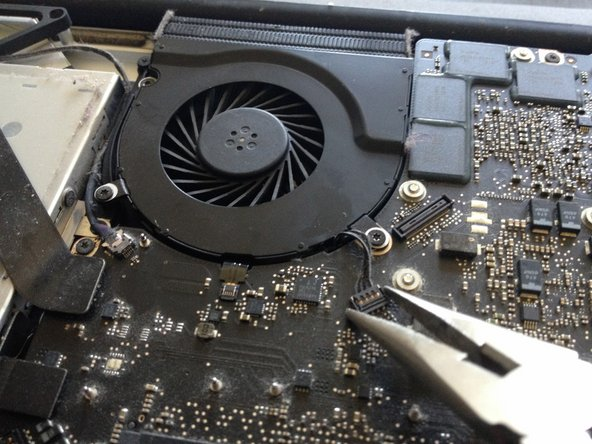 Disconnect the fan from the mainboard.