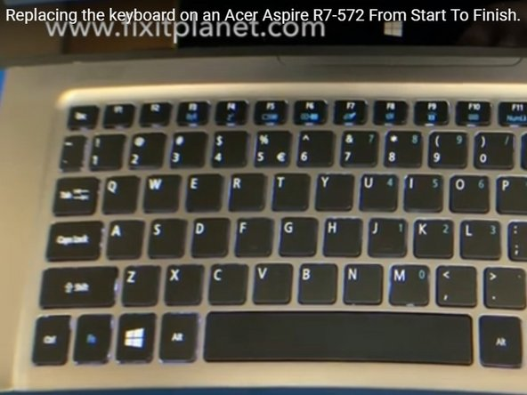 Acer Aspire R7 Keyboard Replacement