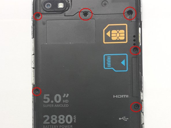 Locate and unscrew all 10 T5 screws around the back cover