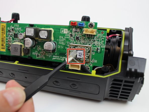 Image 2/2: There is a hidden ribbon on the motherboard, which becomes visible when the motherboard is been pulled out.