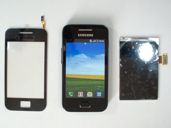 Image 1/2: Remove the battery and any installed SIM and memory card.