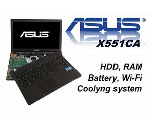 Asus X551CA  HDD, RAM, Wi-Fi, KB, Battery, CMOS Battery, Cooling System, Thermal Paste Video Tutorial