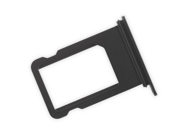 Image 2/3: When reinserting the SIM card, ensure that it is in the proper orientation relative to the tray.