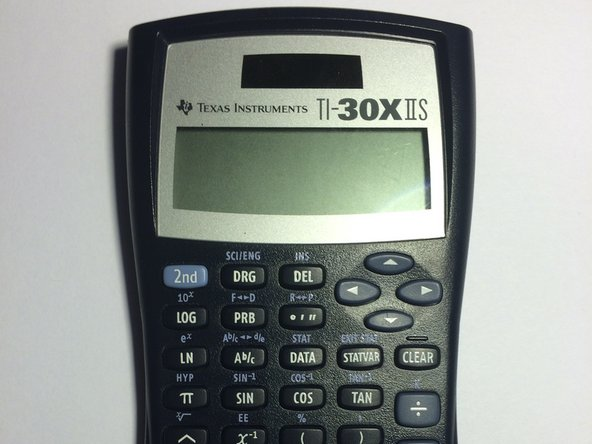 Ensure that your calculator is a TI-30X IIS by looking in the top right corner of the front face.