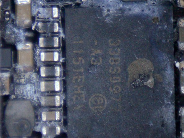 Wet device with signs of liquid damage