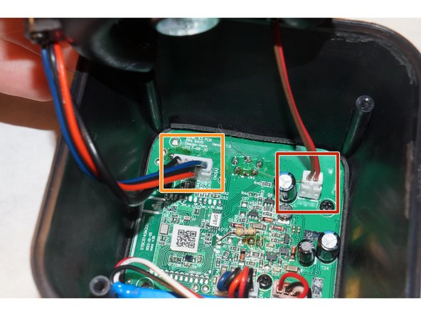 Locate the speaker wire connection and remove the wiring.