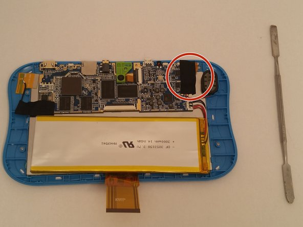 Image 1/2: Once this is done disconnect the wires (red on top black on bottom). The wires are soldered on.