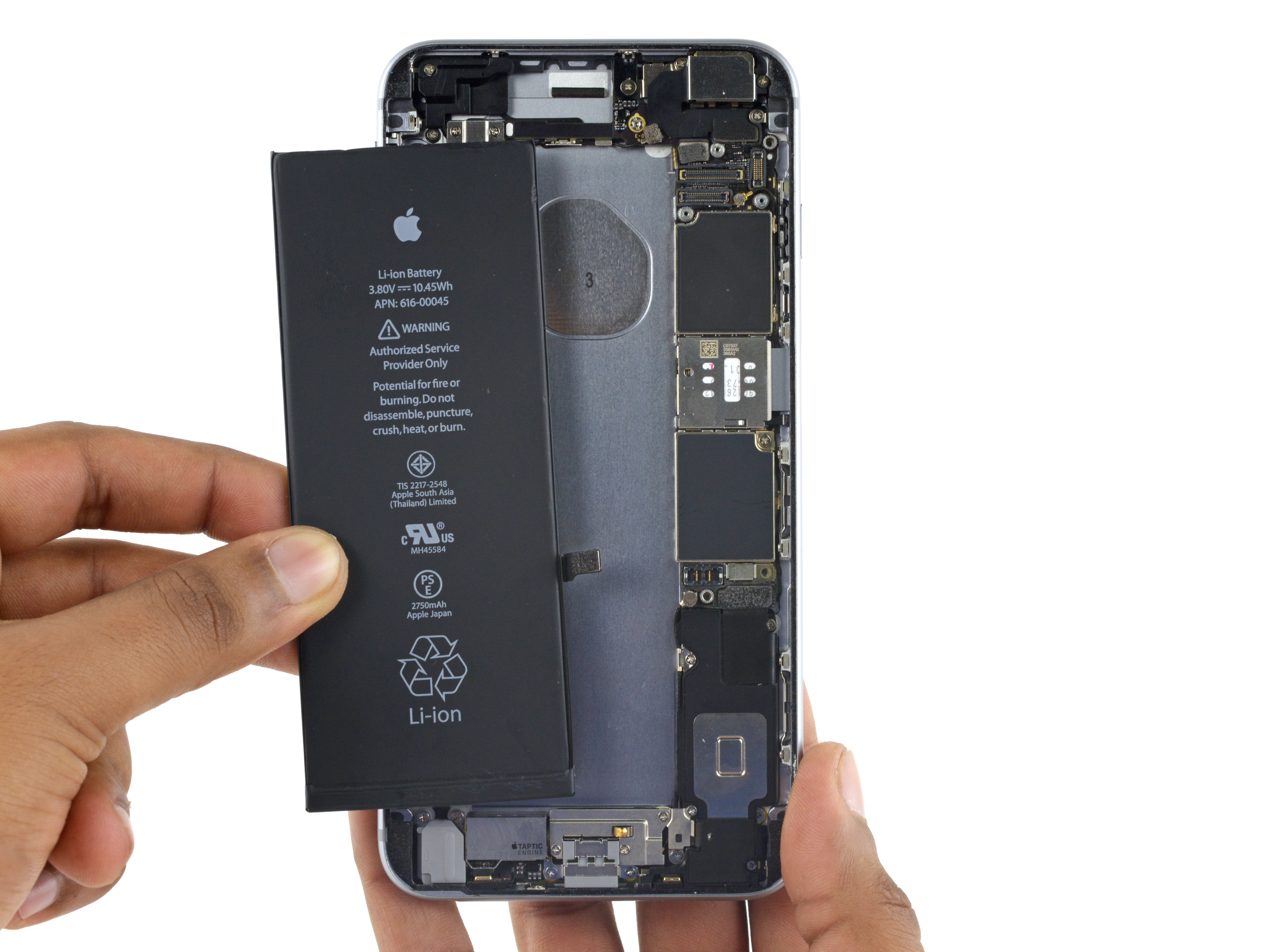 iphone 6s plus battery replacement ifixit repair guide. Black Bedroom Furniture Sets. Home Design Ideas