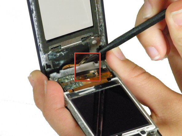 Image 2/3: Caution: If the LCD will not function properly if this ribbon cable is broken.