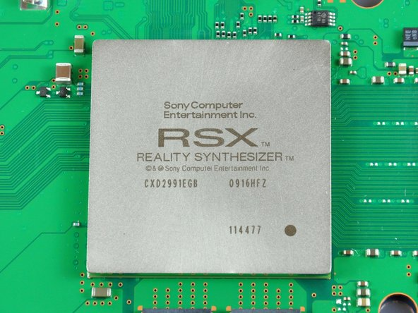 Image 2/2: Chip labels: RSX Reality Synthesizer CXD2991EGB 0916HFZ 114477