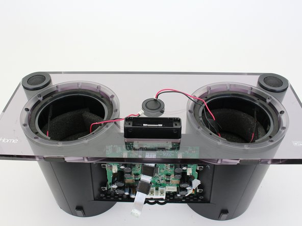 Remove the faceplate from the iHome by pulling it away from the speaker housing.