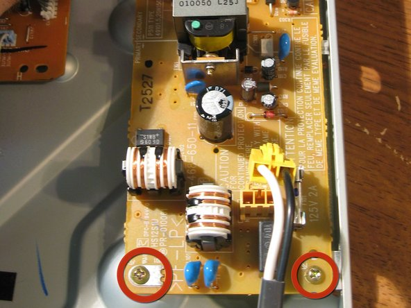 Image 3/3: Remove power Supply Board