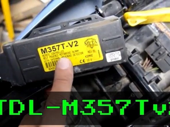 How to bypass the Meta M357 motorcycle immobilizer and alarm