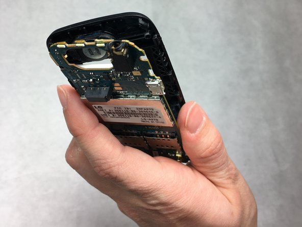 Be careful when doing this to avoid breaking the phone plastics, it should release easily.