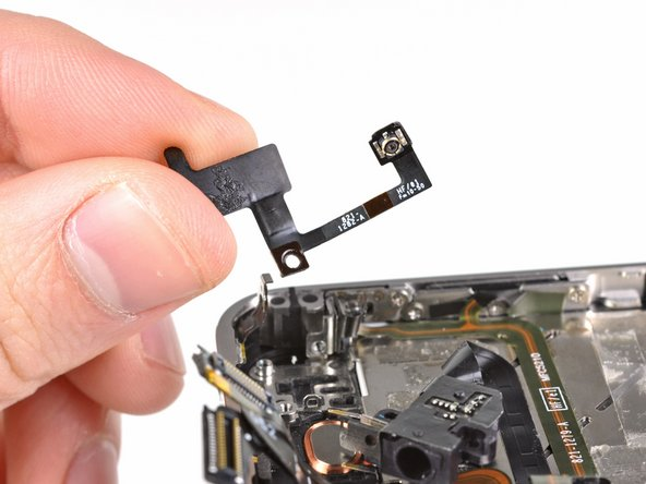 Remove the upper antenna from the iPhone.