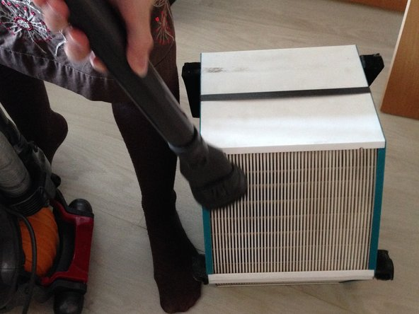 Clean the cell on each side with a hoover to remove any dust