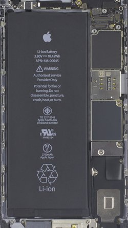 iPhone 6s Plus internals wallpaper