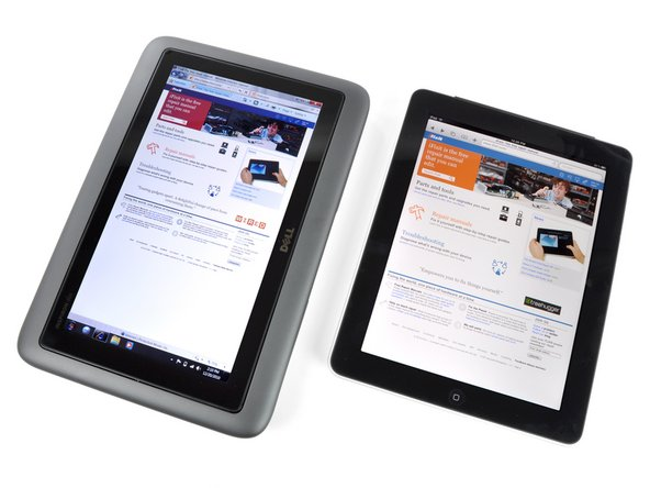 "At 11.22"" x 7.66"", the Inspiron Duo has a notably larger footprint than other tablets we've seen."