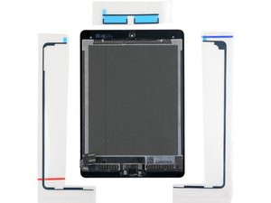 iPad Display Assembly 3 Pc. Adhesive Application