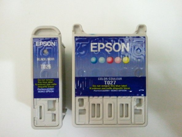 Make sure your cartridges are the same as the ones shown in the third picture. Non-Epson ink cartridges may not be recognized by your printer.