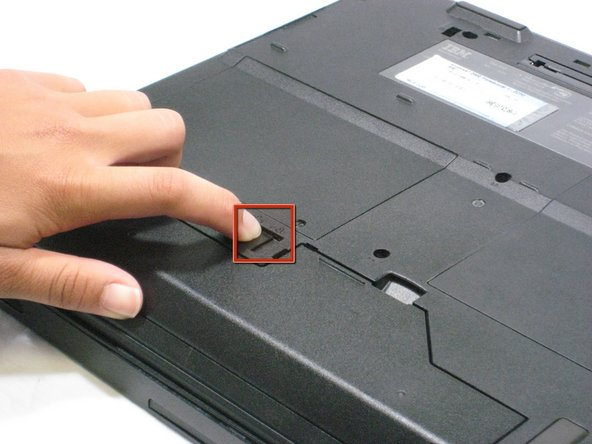 Flip the ThinkPad over so that it is upside down.