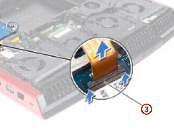 Connect the hard-drive cable to the connector on the system board and press down on the connector latch to secure the cable.