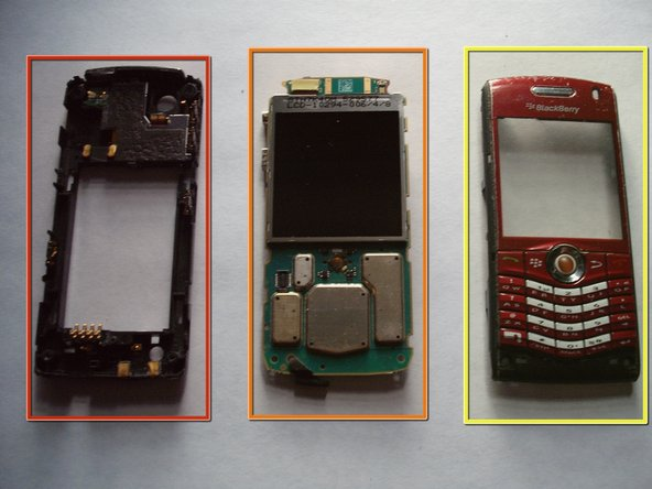 Pry front cover and back cover off of LCD and circuit board.