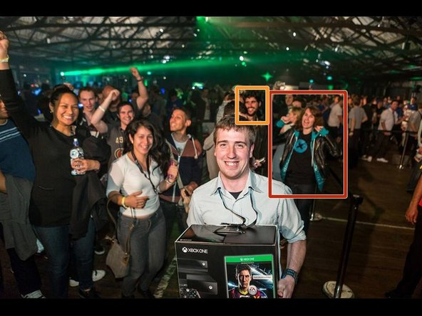 Think we're pulling your leg with all this New Zealand funnybusiness? Check out the folks in the background of this Xbox New Zealand release photo—that would be our very own Samantha Lionheart (in red) and Optimus Goldberg (in orange).