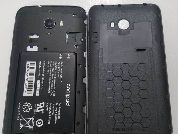 Remove the back cover from your device.