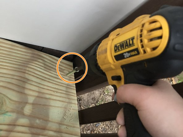 Create three pilot holes with the correct drill bit.