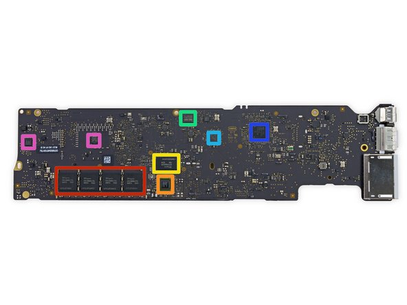 On the flip-side, the logic board packs: