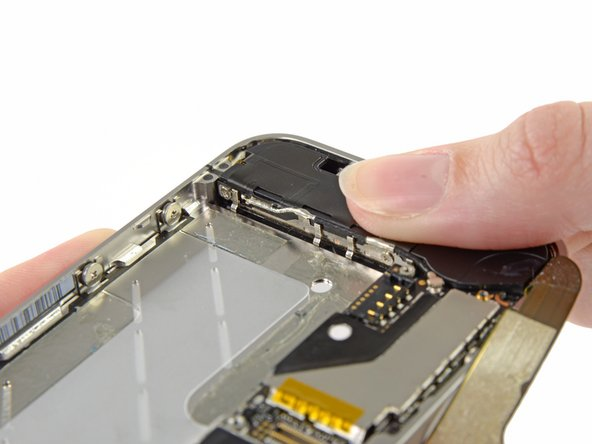 Image 3/3: Before reassembly, be sure to clean all metal-to-metal contact points between the grounding fingers of the Wi-Fi antenna and the case of the iPhone with a de-greaser such as windex or isopropyl alcohol. The oils on your fingers have the potential to cause wireless interference issues.