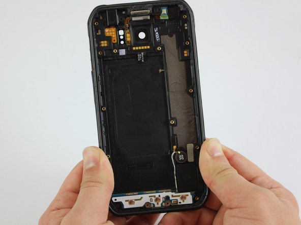 Put a little pressure on the top, on the bottom, and on the sides of the phone to separate it from the plastic cover.